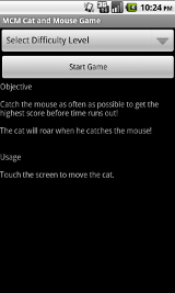 MCM Cat and Mouse Game - Start Screen